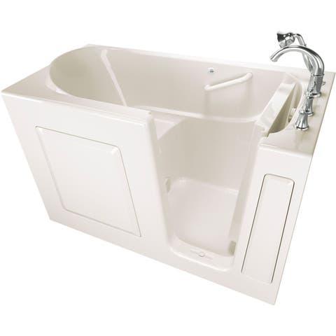 "American Standard 3060.509.SR Value 60"" Acrylic Walk-In Soaking Bathtub for Alcove Installation with Right Drain - White"