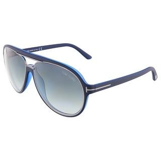 Tom Ford FT0379/S 89W SERGIO Matte Blue Aviator sunglasses