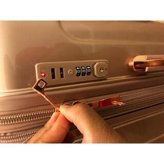 Kensie Metallic 3-piece Expandable Hardside Spinner Luggage Set