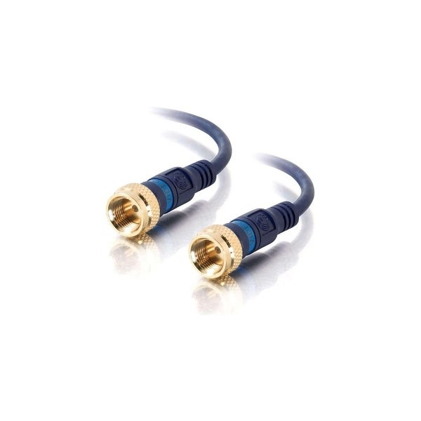 C2G 27226 C2G 3ft Velocity Mini-Coax F-Type Cable - F Connector - F Connector - 3ft - Blue