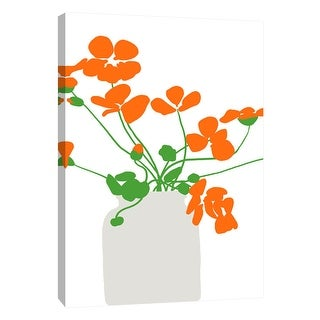 "PTM Images 9-105490  PTM Canvas Collection 10"" x 8"" - ""Nasturtium in Vase"" Giclee Flowers Art Print on Canvas"