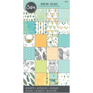 "Sizzix Double-Sided Cardstock Pad 6""X12"" 48/Pkg-Fox Tales"