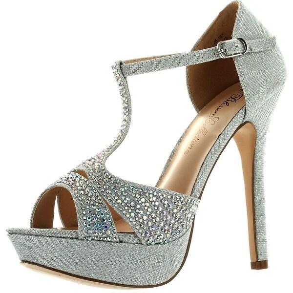 De Blossom Womens Gap-15 T-Strap Fashion Bridesmaid Prom Party Pumps Shoes 7858dcdcef24