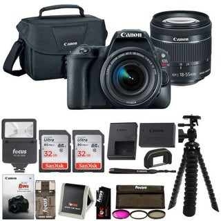 Canon EOS Rebel SL2 SLR Camera w/ 18-55mm f/4 STM Lens + Canon Bag & 64GB Bundle