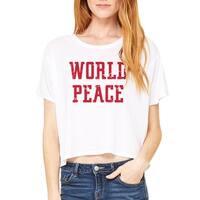 World Peace Women's White Crop Top