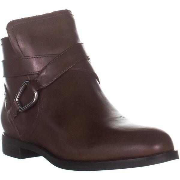 a223e32320d Lauren Ralph Lauren Hermione Ankle Boots, Dark Saddle Tan - 7 US / 38 EU