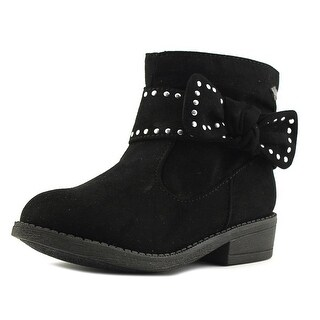 Nina Christie-T Toddler Round Toe Synthetic Black Ankle Boot
