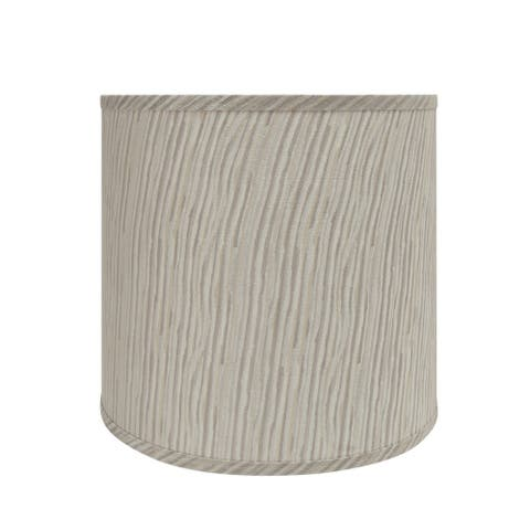 "Aspen Creative Drum (Cylinder) Shaped Spider Construction Lamp Shade in Striped (12"" x 13"" x 12"")"