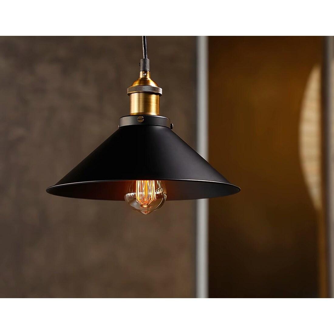 Shop Black Friday Deals On Savfya 1 3 Pack Industrial Hanging Pendant Light Matte Black Overstock 14174789