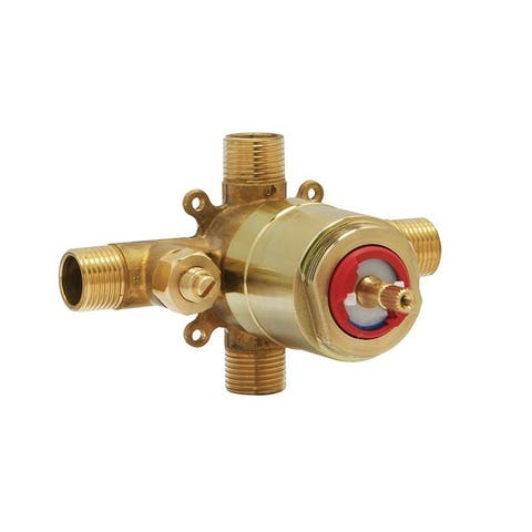 "Huntington Brass Pressure Balanced Shower Rough-in Valve - Small box, L x W x H - 4"" x 5"" x 3"""