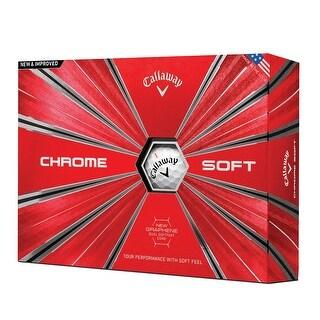 Callaway Golf 2018 Chrome Soft Golf Balls - 1 Dozen - White