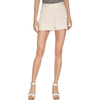 Theory Womens Calila Khaki, Chino Shorts Front Patch Pockets Casual