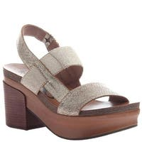 OTBT Womens Indio Leather Open Toe Casual Slingback Sandals