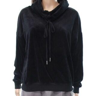 Socialite Black Women's Size Small S Velvet Cowl Neck Sweater