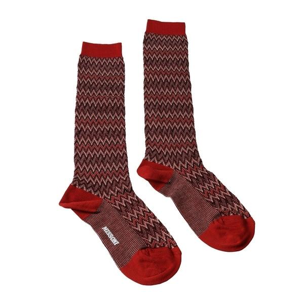 Missoni GM00CMD4597 0001 Red/Black Boot Socks