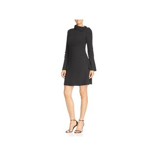 Vince Camuto Womens Cocktail Dress Foldover Collar Bell Sleeves