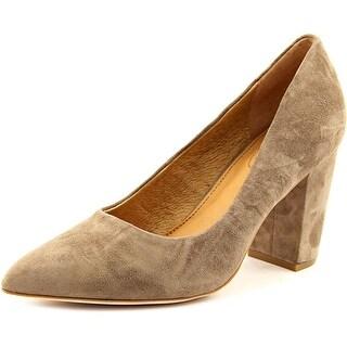 Corso Como Kathy Women Pointed Toe Suede Tan Heels