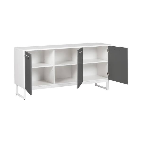 Alaska 3-Door Credenza File Cabinet
