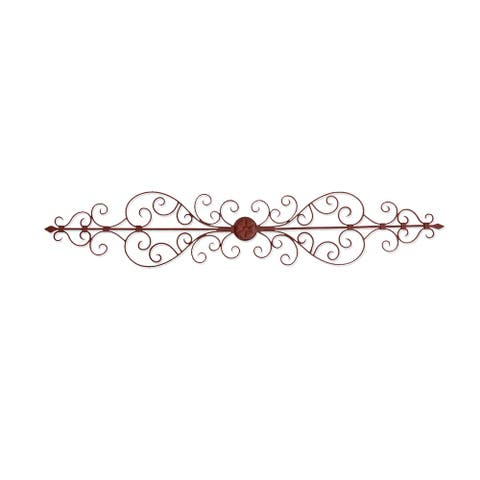 Copper Grove San Isabel Rustic 44-inch Swirled Metal Wall Plaque