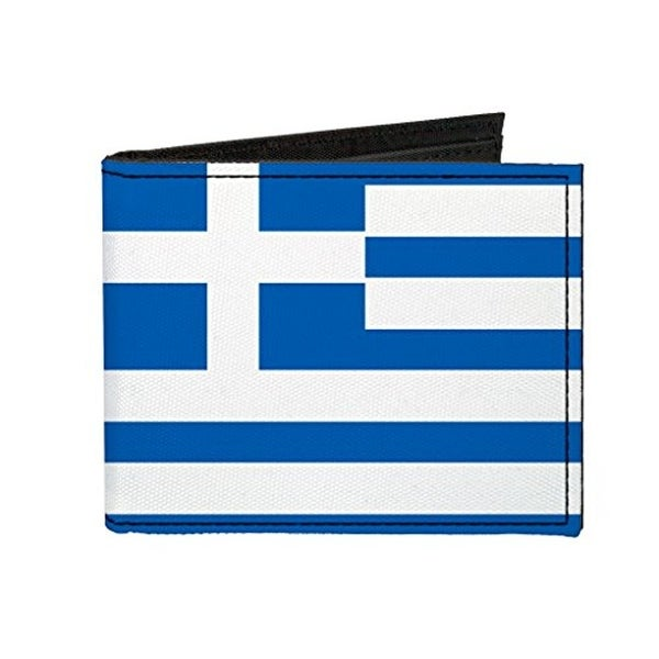 Buckle-Down Canvas Bi-fold Wallet - Greece Flag Accessory