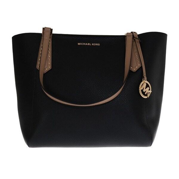 b602679985095c Shop Michael Kors Handbags Black KIMBERLY Leather Tote Bag - One ...