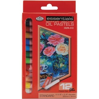 Oil Pastels 12/Pkg-Assorted Colors