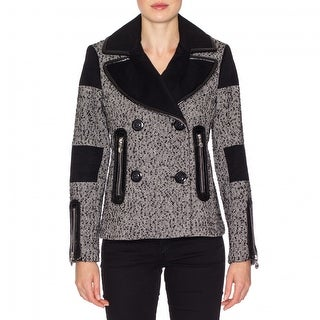 Betsey Johnson Womens Herringbone Wool Coat