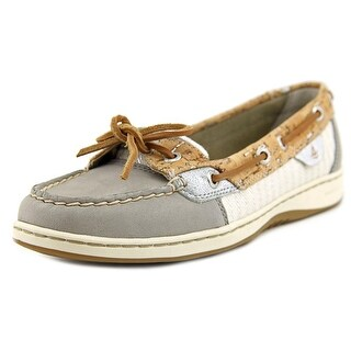 Sperry Top Sider Angelfish Women Moc Toe Canvas Gray Boat Shoe
