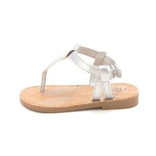 Natural Steps Baby Girl olive Buckle Sandals - 5 M US Infants