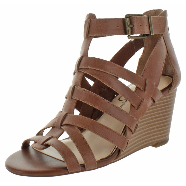Jessica Simpson Cloe Women's Caged Wedge Buckle Sandals