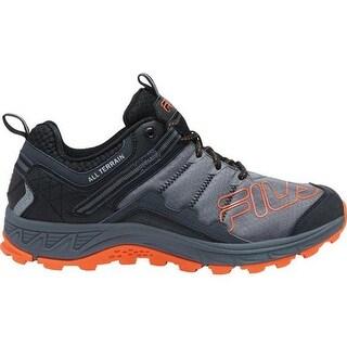 Fila Men's Blowout 19 Trail Running Shoe Black/Castlerock/Red Orange