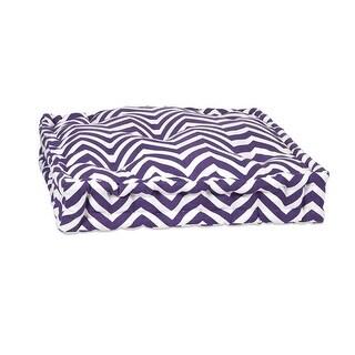 "20"" Purple and White Bold Chevron Floor Cushion"
