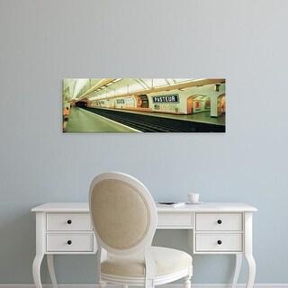 Easy Art Prints Panoramic Images's 'Metro Station, Paris, France' Premium Canvas Art