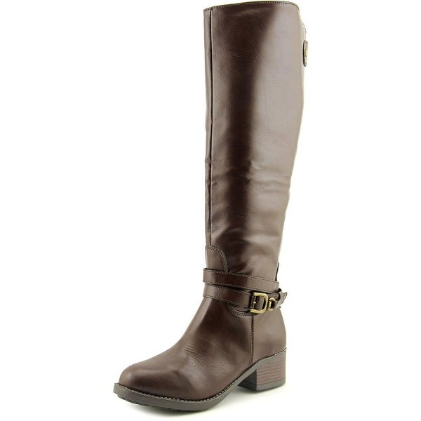 Rampage Imelda Women Round Toe Synthetic Brown Knee High Boot