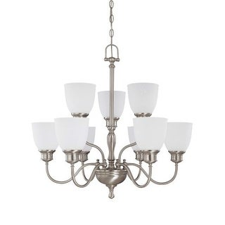 "Nuvo Lighting 60/2779 Bella 9 Light 29"" Wide Chandelier with Frosted Linen Glass"