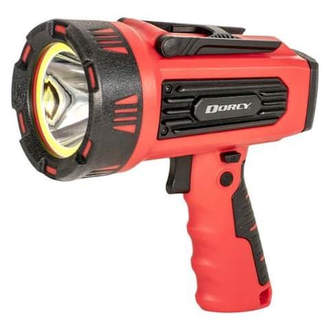 Dorcy 1300 lumens Black/Red LED Spotlight +Power Bank 4400 mAh Lithium Ion Battery