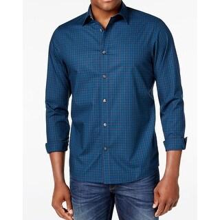 Michael Kors NEW Blue Mens Size XL Slater Tartan Button Down Shirt
