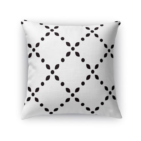 Kavka Designs black/ white black spot diamond accent pillow with insert