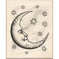 "Crescent Moon - Inkadinkado Mounted Rubber Stamp 2.5""X2"""