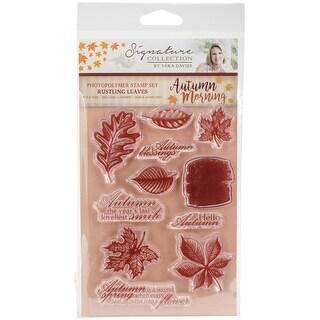 Rustling Leaves - Sara Davies Signature Autumn Morning Clear Stamp Set