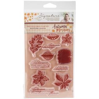 Sara Davies Signature Autumn Morning Clear Stamp Set-Rustling Leaves