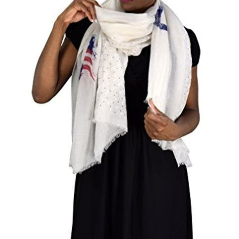 Nautical Anchor And Dainty Heart Print Light Weight Summer Scarf - one size