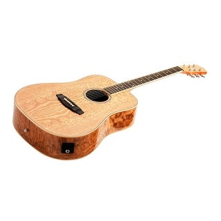 Monoprice Acoustic Guitar - Quilted Ash With Fishman Pickup Tuner and Gig Bag - Idyllwild