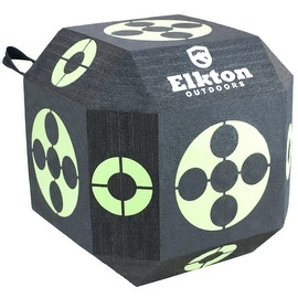 Elkton 18-Sided 3D Cube Archery Target Constructed with Rapid Self Healing XPE Foam Perfect Reusable Target for all Arrow Types