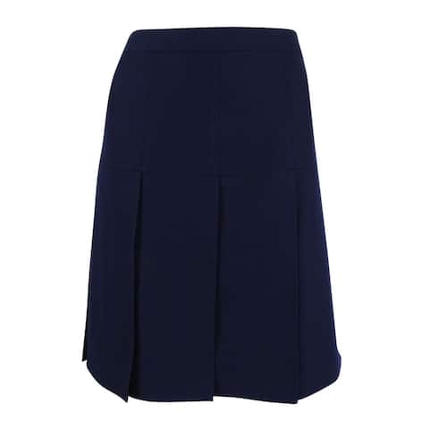 Tommy Hilfiger Women's Drop-Pleat A-Line Skirt - Midnight
