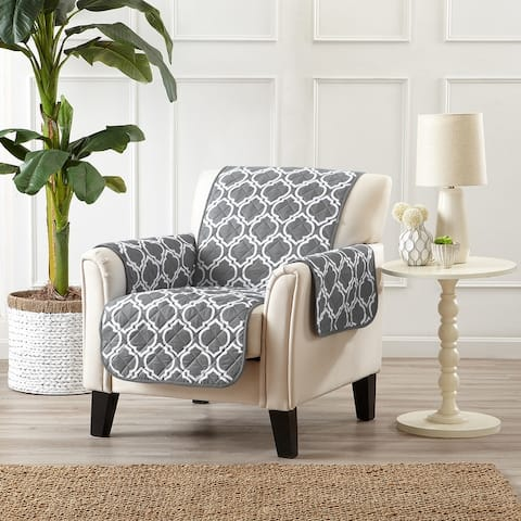 Great Bay Home Printed Reversible Chair Furniture Protector
