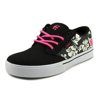 Etnies Kids Jameson 2 SMU Youth  Round Toe Canvas Black Skate Shoe