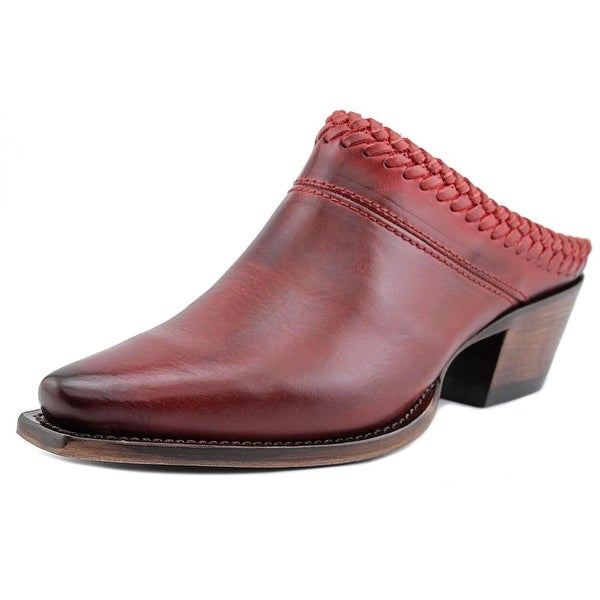 Lucchese Mimi Pointed Toe Leather Mules