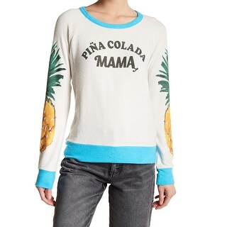Chaser Women Medium 'Pina Colada Mama' Pullover Sweater