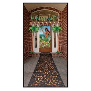 Pack of 6 Tropical Luau Themed Hot Coals Path Runner Party Decorations 10'